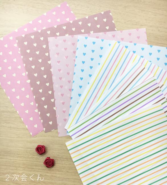 折り紙とバラ素材紹介