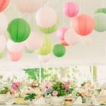 結婚式二次会会場をオシャレに演出♥天井装飾編