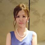 パールアクセが合う上品ドレス/菜央さん 【結婚式二次会 服装コーディネート】
