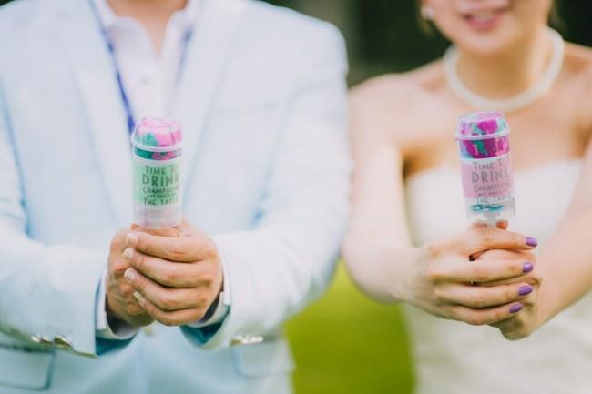 DIY pushpop confetti wedding sofia plana photography