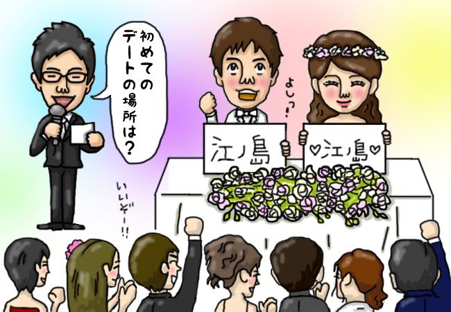 ★司会台本★ 新郎新婦相性チェックゲーム!